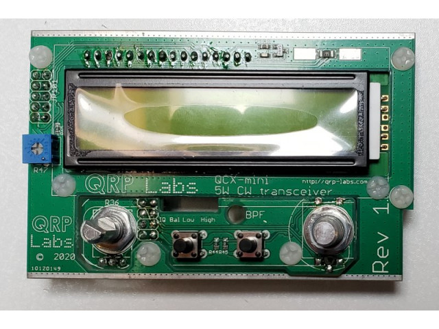 QCX-mini Display and Controls PCB and Components